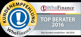 Who-Finance Auszeichnung